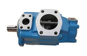 The two suction areas and pressure areas of the pump are radially symmetrical